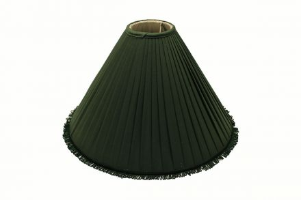 Green Material Pleated Pool Table Lampshade