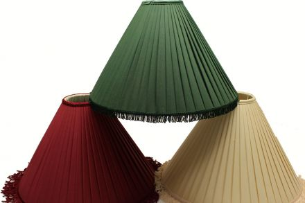 pleated material coolie shades