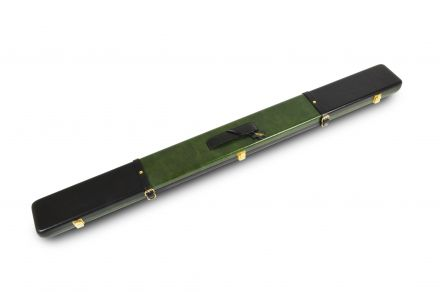 Black & Green Leather Case for 3/4 Jointed Cues