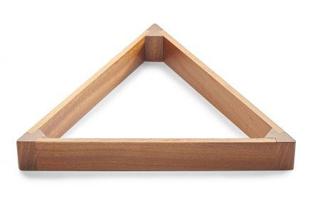 mahogany wooden triangle