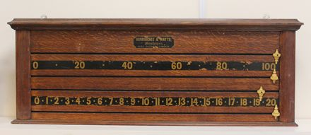 (SB275) 2 Player Oak Marker Board by B & W