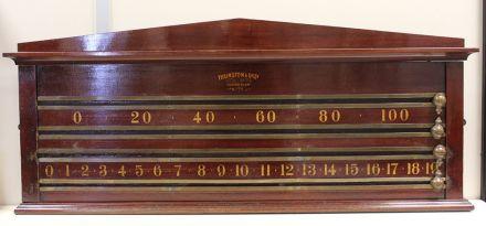 (SB261) 2 Player Mahogany Marker Board by Thurston