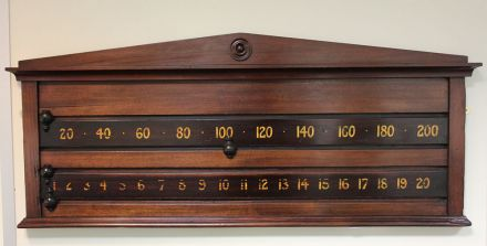2 player mahogany scoreboard