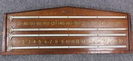 (SB274) 2 Player Mahogany Scoreboard