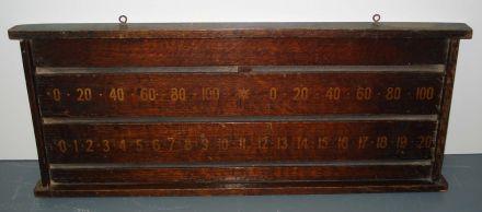 2 player oak marker board