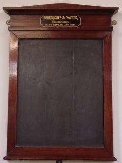 B & W slate marker board