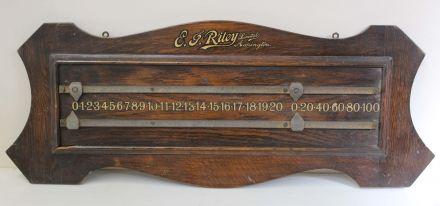 two player oak board