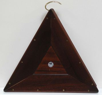 (MIS15) Reproduction Triangular ball box in Mahogany