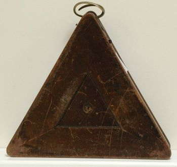 (MIS20) Antique Triangular Ball Box in Mahogany