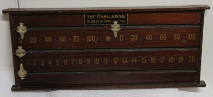 (SB238) 2 Player Mahogany Scoreboard by Jelks