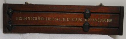 (SB242) 2 Player Mahogany Snooker Scoreboard