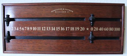 (SB211) Two Player Mahogany Board by H & T