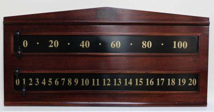 mahogany scoreboard