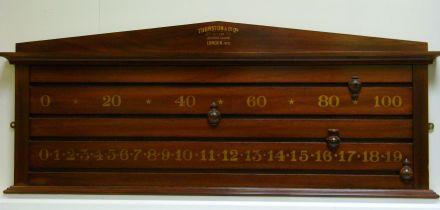2 player mahogany scoreboard