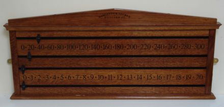 Oak scoreboard