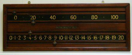 Mahogany marker board by Orme & Sons