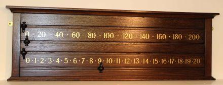 Oak Snooker Scoreboard