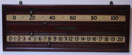 mahogany scoreboard for snooker