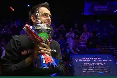 Ronnie O'Sullivan takes home his sixth World Championship title
