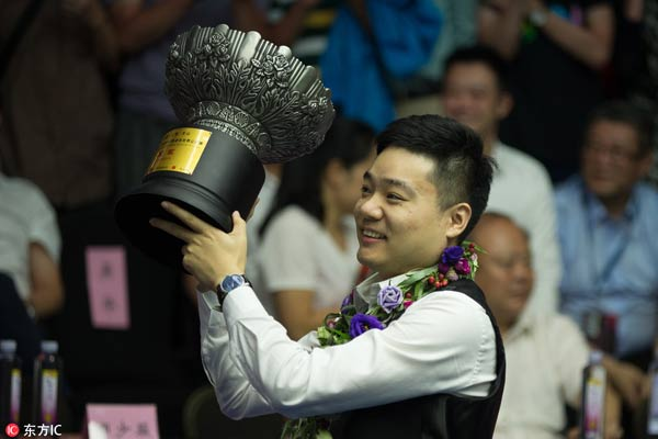 Ding Junhui winning 2017 World Open