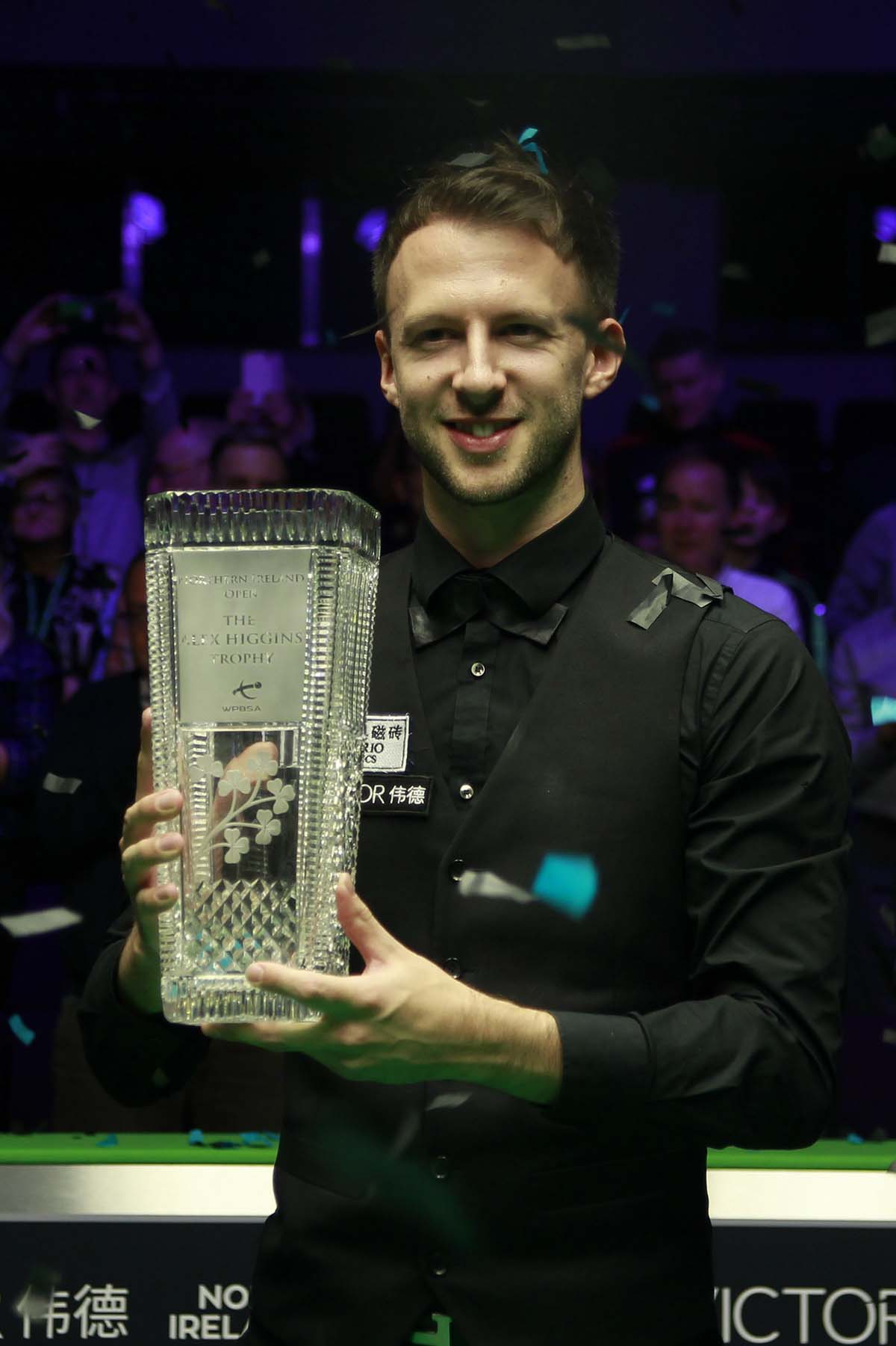 Judd Trump, again pictured lifting the trophy at the Northern Ireland Open 2018