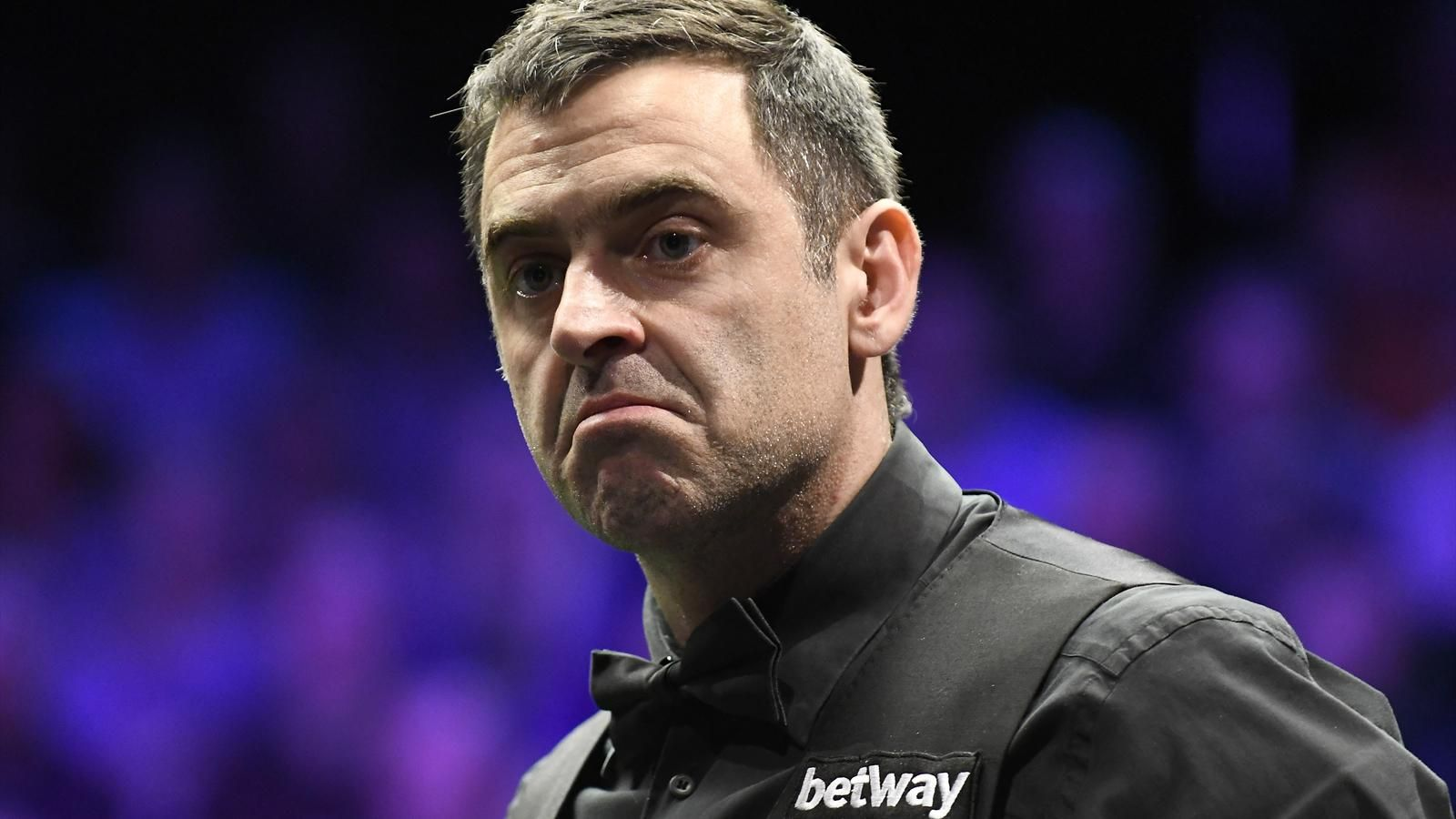 Ronnie O'Sullivan looks on in the final of the Betway UK Championship after defeating Mark Allen 10-6