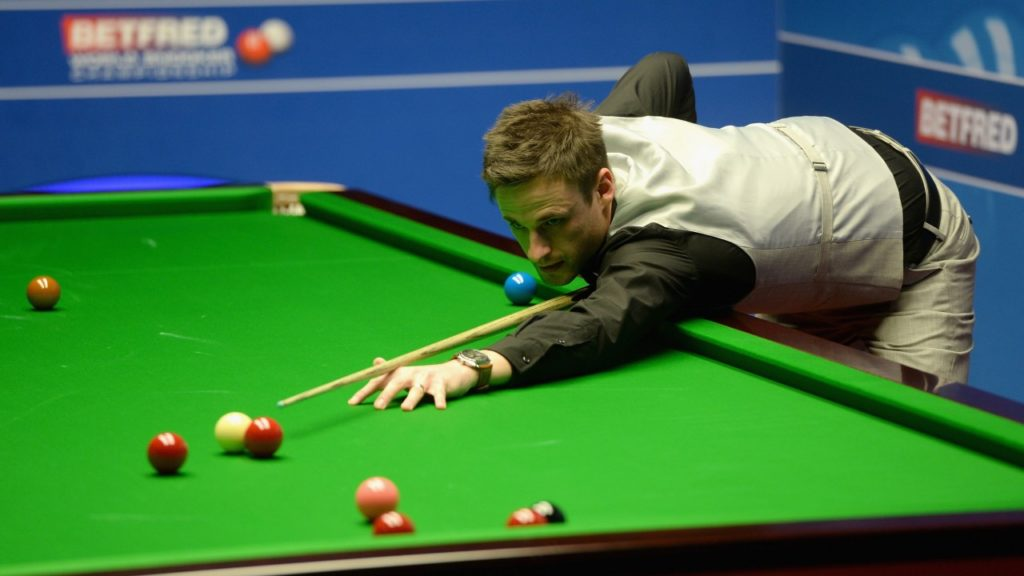 David Gilbert pictured during his 9-7 defeat in the 2019 German Masters final against fellow Englishman Kyren Wilson