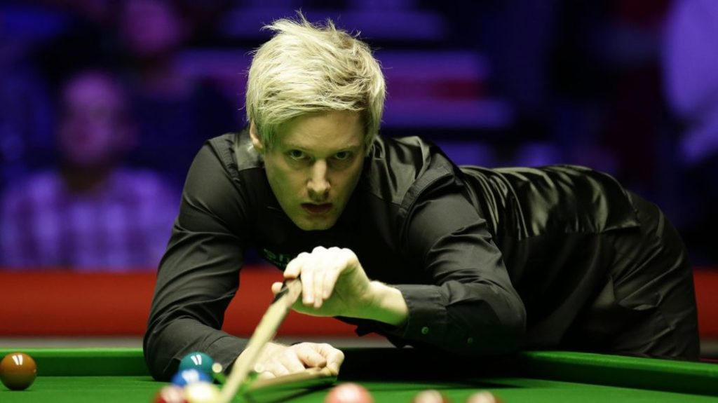 Neil Robertson is pictured during his 9-7 win in the 2019 Welsh Open final against Stuart Bingham