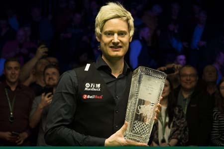 Neil Robertson defeats Stuart Bingham 9-7 in the Welsh Open final