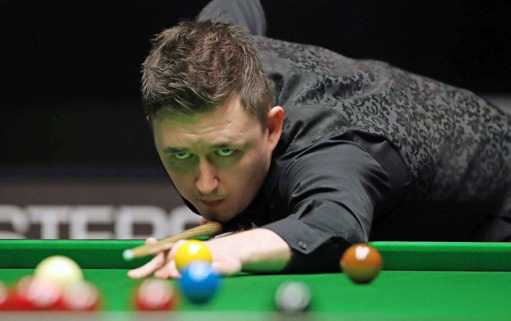 Kyren Wilson keeps his eyes on the prize during his 9-7 win over David Gilbert in the 2019 German Masters final