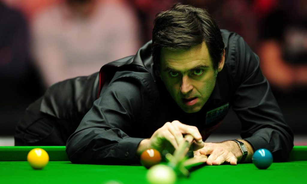 Ronnie O'Sullivan is pictured during his controversial victory over Barry Pinches in the 2016 Welsh Open.
