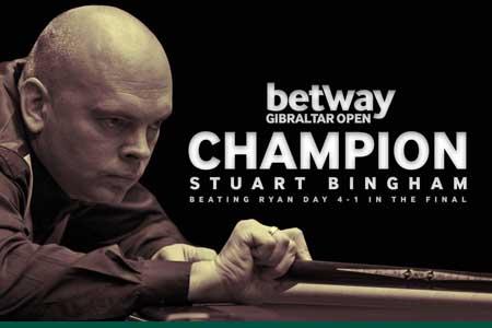 Stuart Bingham defeats defending champion Ryan Day in Gibraltar Open final
